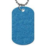 Festive Blue Glitter Texture Dog Tag (Two Sides) Front