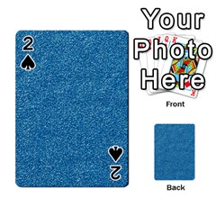 Festive Blue Glitter Texture Playing Cards 54 Designs  by yoursparklingshop