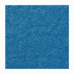 Festive Blue Glitter Texture Medium Glasses Cloth by yoursparklingshop