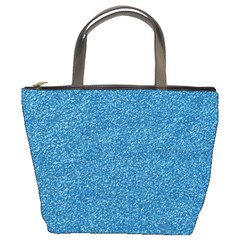 Festive Blue Glitter Texture Bucket Bags by yoursparklingshop
