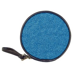 Festive Blue Glitter Texture Classic 20 Cd Wallets by yoursparklingshop