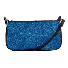 Festive Blue Glitter Texture Shoulder Clutch Bags by yoursparklingshop
