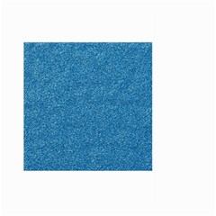 Festive Blue Glitter Texture Large Garden Flag (two Sides) by yoursparklingshop