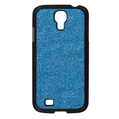 Festive Blue Glitter Texture Samsung Galaxy S4 I9500/ I9505 Case (black) by yoursparklingshop