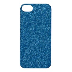 Festive Blue Glitter Texture Apple Iphone 5s/ Se Hardshell Case by yoursparklingshop