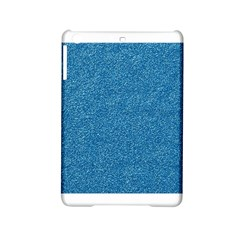 Festive Blue Glitter Texture Ipad Mini 2 Hardshell Cases by yoursparklingshop