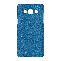 Festive Blue Glitter Texture Samsung Galaxy A5 Hardshell Case  by yoursparklingshop