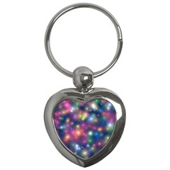 Starlight Shiny Glitter Stars Key Chains (heart)  by yoursparklingshop