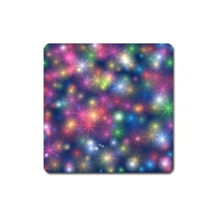 Starlight Shiny Glitter Stars Square Magnet by yoursparklingshop