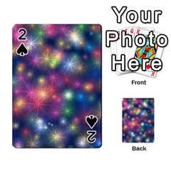 Starlight Shiny Glitter Stars Playing Cards 54 Designs  by yoursparklingshop