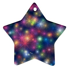 Starlight Shiny Glitter Stars Star Ornament (two Sides)  by yoursparklingshop