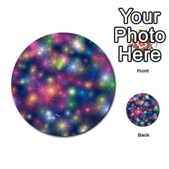Starlight Shiny Glitter Stars Multi Purpose Cards (round)  by yoursparklingshop