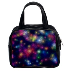 Starlight Shiny Glitter Stars Classic Handbags (2 Sides) by yoursparklingshop