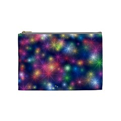 Starlight Shiny Glitter Stars Cosmetic Bag (medium)  by yoursparklingshop