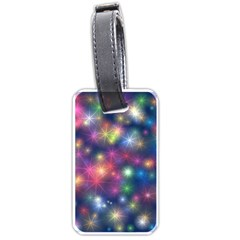 Starlight Shiny Glitter Stars Luggage Tags (two Sides) by yoursparklingshop