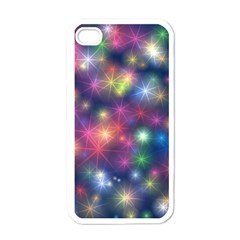 Starlight Shiny Glitter Stars Apple Iphone 4 Case (white) by yoursparklingshop