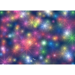 Starlight Shiny Glitter Stars Birthday Cake 3d Greeting Card (7x5)  by yoursparklingshop