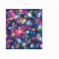 Starlight Shiny Glitter Stars Large Garden Flag (two Sides) by yoursparklingshop