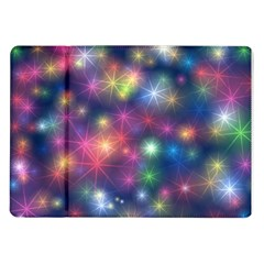 Starlight Shiny Glitter Stars Samsung Galaxy Tab 10 1  P7500 Flip Case by yoursparklingshop