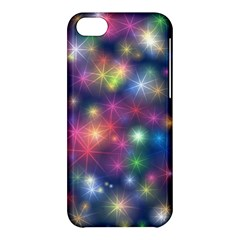 Starlight Shiny Glitter Stars Apple Iphone 5c Hardshell Case by yoursparklingshop