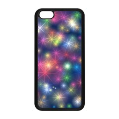Starlight Shiny Glitter Stars Apple Iphone 5c Seamless Case (black) by yoursparklingshop