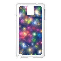Starlight Shiny Glitter Stars Samsung Galaxy Note 3 N9005 Case (white) by yoursparklingshop