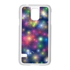 Starlight Shiny Glitter Stars Samsung Galaxy S5 Case (white) by yoursparklingshop