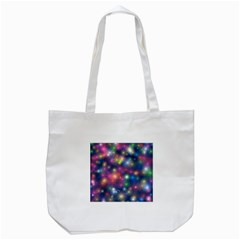 Starlight Shiny Glitter Stars Tote Bag (white) by yoursparklingshop