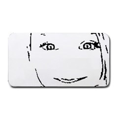 Portrait Black And White Girl Medium Bar Mats by yoursparklingshop
