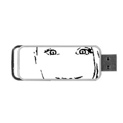 Portrait Black And White Girl Portable Usb Flash (two Sides)