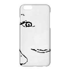 Portrait Black And White Girl Apple Iphone 6 Plus/6s Plus Hardshell Case by yoursparklingshop