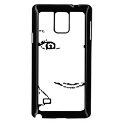 Portrait Black And White Girl Samsung Galaxy Note 4 Case (black) by yoursparklingshop