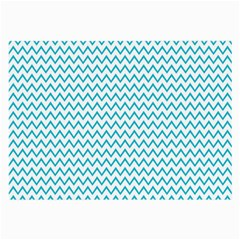 Blue White Chevron Large Glasses Cloth (2 Side) by yoursparklingshop