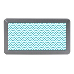 Blue White Chevron Memory Card Reader (mini) by yoursparklingshop