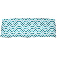 Blue White Chevron Body Pillow Case Dakimakura (two Sides) by yoursparklingshop