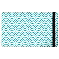 Blue White Chevron Apple Ipad 3/4 Flip Case by yoursparklingshop