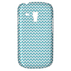 Blue White Chevron Samsung Galaxy S3 Mini I8190 Hardshell Case by yoursparklingshop