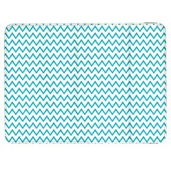 Blue White Chevron Samsung Galaxy Tab 7  P1000 Flip Case by yoursparklingshop