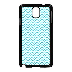 Blue White Chevron Samsung Galaxy Note 3 Neo Hardshell Case (black) by yoursparklingshop