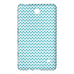 Blue White Chevron Samsung Galaxy Tab 4 (8 ) Hardshell Case  by yoursparklingshop