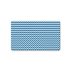 Dark Blue White Chevron  Magnet (name Card) by yoursparklingshop