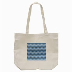 Dark Blue White Chevron  Tote Bag (cream) by yoursparklingshop