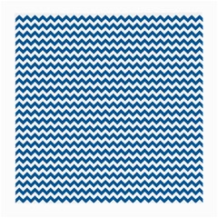 Dark Blue White Chevron  Medium Glasses Cloth (2 Side) by yoursparklingshop