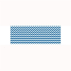 Dark Blue White Chevron  Large Bar Mats by yoursparklingshop