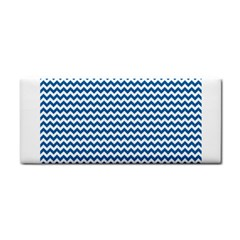 Dark Blue White Chevron  Hand Towel by yoursparklingshop