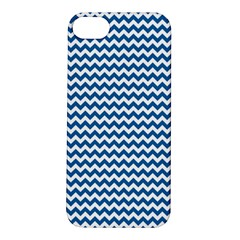 Dark Blue White Chevron  Apple Iphone 5s/ Se Hardshell Case by yoursparklingshop