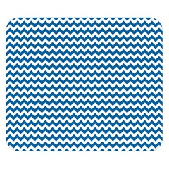 Dark Blue White Chevron  Double Sided Flano Blanket (small)  by yoursparklingshop