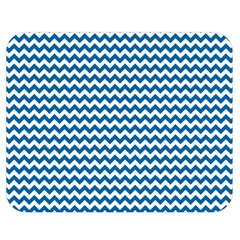 Dark Blue White Chevron  Double Sided Flano Blanket (medium)  by yoursparklingshop