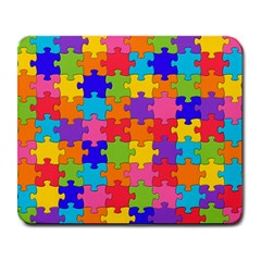 Funny Colorful Puzzle Pieces Large Mousepads by yoursparklingshop