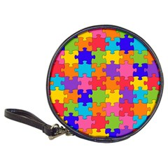 Funny Colorful Puzzle Pieces Classic 20 Cd Wallets by yoursparklingshop